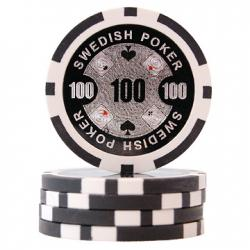 Swedish Poker Svart 100 (25-pack)