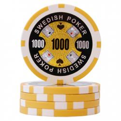 Swedish Poker Gul 1000 (25-pack)