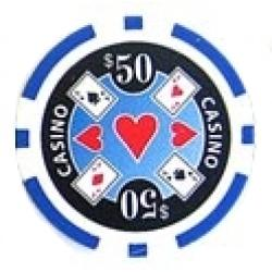 Casino Ace Blå 50 (25-pack)