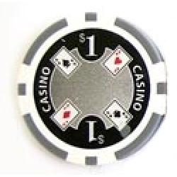 Casino Ace Grå 1 (25-pack)