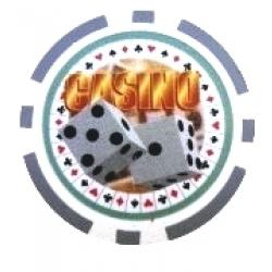 Casino Dice Grå (25-pack)