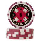 Swedish Poker Röd 5 (50-pack)