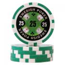 Swedish Poker Grön 25 (50-pack)
