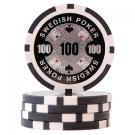 Swedish Poker Svart 100 (50-pack)