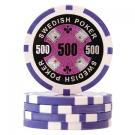 Swedish Poker Lila 500 (50-pack)