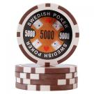 Swedish Poker Brun 5000 (50-pack)